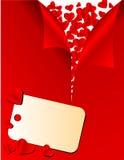 Scheda del biglietto di S. Valentino di vettore Fotografie Stock