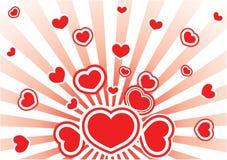 Scheda del biglietto di S. Valentino di vettore illustrazione di stock