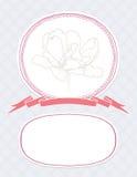 Scheda del biglietto di S. Valentino di vettore, modello dell'invito di nozze Fotografia Stock Libera da Diritti