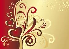Scheda del biglietto di S. Valentino (vettore) illustrazione vettoriale