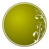 Scheda del cerchio dell'ornamento floreale Fotografia Stock