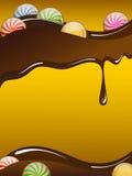 Scheda del cioccolato Fotografia Stock Libera da Diritti