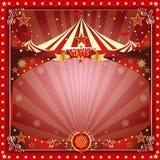 Scheda del circo di Natale Immagine Stock