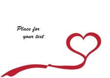 Scheda del cuore Fotografie Stock