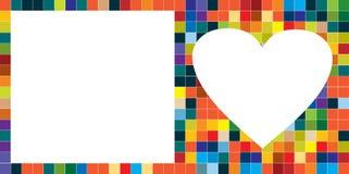 Scheda del cuore Fotografie Stock Libere da Diritti