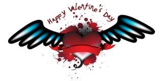 Scheda del cuore del biglietto di S. Valentino Fotografia Stock Libera da Diritti