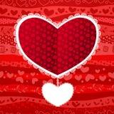 Scheda del cuore di nozze del giorno del biglietto di S. Valentino di amore Fotografia Stock Libera da Diritti