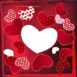 Scheda del cuore di nozze del giorno del biglietto di S. Valentino di amore Fotografia Stock