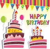 Scheda del dolce della festa di compleanno illustrazione di stock