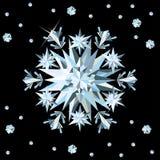 Scheda del fiocco di neve del diamante. Fotografia Stock
