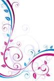Scheda del foglio floreale con lo spazio del testo Immagini Stock Libere da Diritti