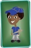 Scheda del giocatore di baseball Fotografia Stock