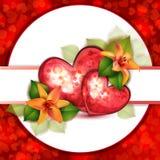 Scheda del giorno del biglietto di S. Valentino Immagine Stock Libera da Diritti