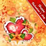 Scheda del giorno del biglietto di S. Valentino Immagini Stock