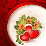 Scheda del giorno del biglietto di S. Valentino Fotografia Stock Libera da Diritti