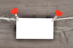Scheda del giorno del biglietto di S. Valentino Immagini Stock Libere da Diritti