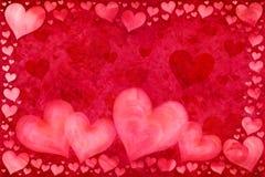 Scheda del giorno del biglietto di S. Valentino royalty illustrazione gratis