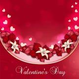 Scheda del giorno del biglietto di S. Valentino Fotografia Stock