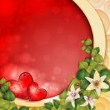 Scheda del giorno del biglietto di S. Valentino Immagine Stock