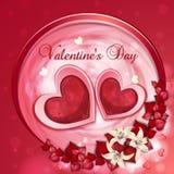Scheda del giorno del biglietto di S. Valentino Fotografie Stock