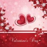 Scheda del giorno del biglietto di S. Valentino Fotografie Stock Libere da Diritti