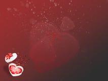 Scheda del giorno del biglietto di S. Valentino con Fotografia Stock Libera da Diritti