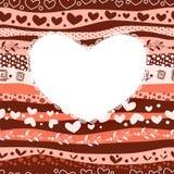 Scheda del giorno del biglietto di S. Valentino di amore su fondo senza cuciture Fotografia Stock