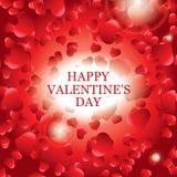 Scheda del giorno del biglietto di S. Valentino, disegno dell'insegna Immagini Stock