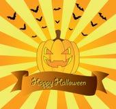 Scheda del Halloween Immagini Stock Libere da Diritti
