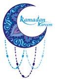 Scheda del kareem di Ramadan Fotografie Stock