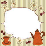 Scheda del menu Fotografia Stock