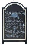 Scheda del menu, isolata Fotografie Stock