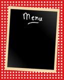 Scheda del menu su percalle Immagini Stock