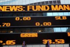 Scheda del mercato azionario Fotografia Stock