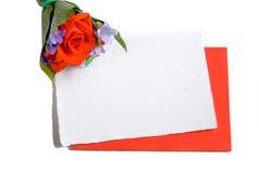 Scheda del messaggio con i fiori Fotografie Stock Libere da Diritti