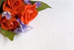 Scheda del messaggio con i fiori Fotografia Stock Libera da Diritti