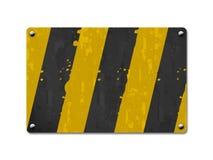 Scheda del metallo, scheda del segno Fotografie Stock Libere da Diritti