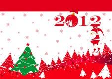 Scheda del nuovo anno Immagine Stock