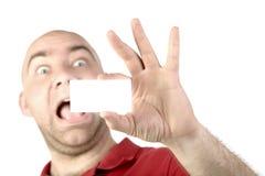 Scheda del portait dell'uomo Fotografia Stock