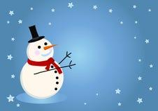 Scheda del pupazzo di neve di vettore per natale Immagine Stock