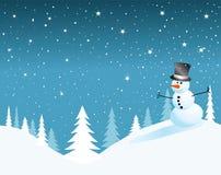 Scheda del pupazzo di neve di vettore per natale Immagine Stock Libera da Diritti