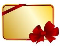 Scheda del regalo Immagini Stock