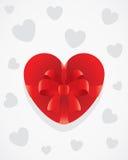 Scheda del regalo del cuore Immagini Stock