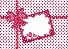 Scheda del regalo del puntino di Polka Fotografia Stock