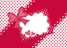Scheda del regalo del puntino di Polka royalty illustrazione gratis