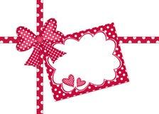 Scheda del regalo del puntino di Polka Fotografie Stock