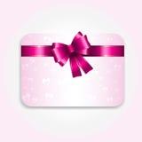 Scheda del regalo di giorno dei biglietti di S. Valentino Fotografie Stock