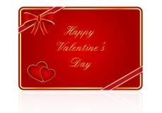 Scheda del regalo di giorno del biglietto di S. Valentino Fotografia Stock Libera da Diritti