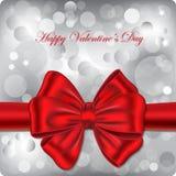 Scheda del regalo di giorno del biglietto di S. Valentino felice Fotografia Stock