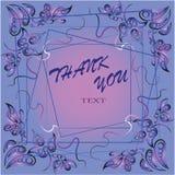 Scheda del regalo isolata su bianco Cartolina di apprezzamento Immagine Stock